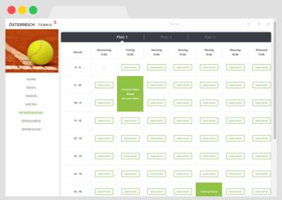 Platzreservierung für Tennisvereine